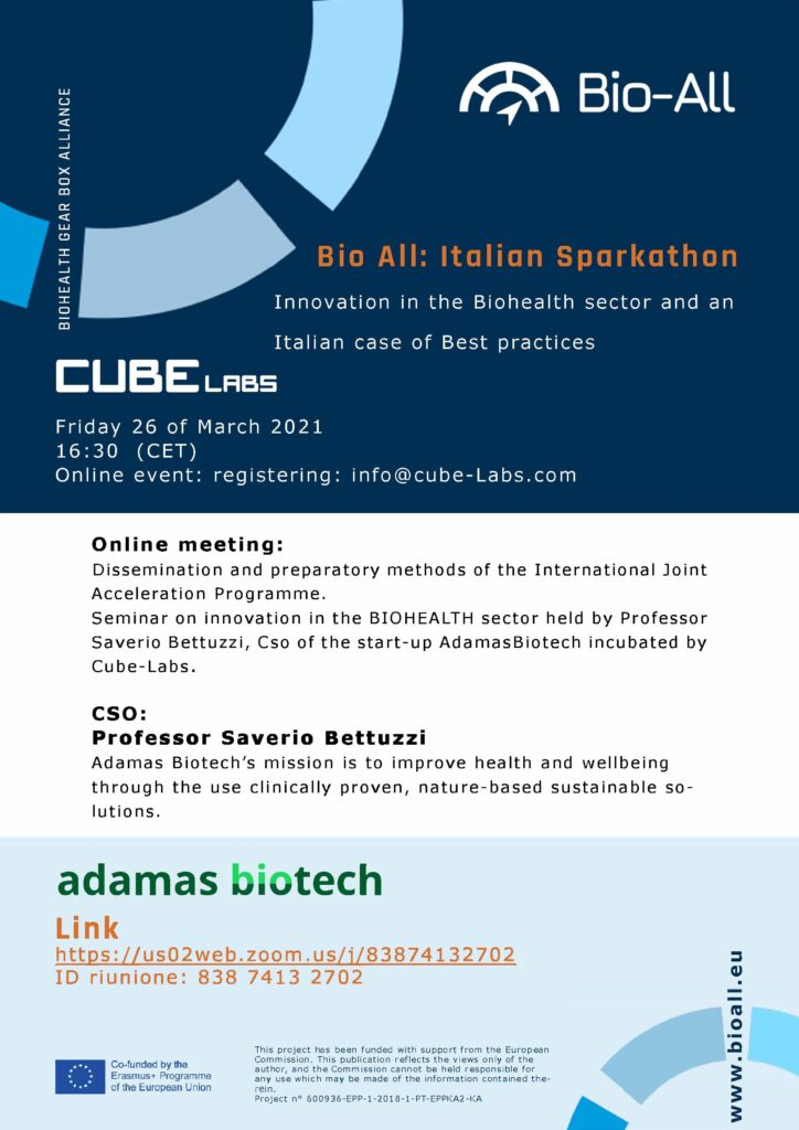 FLYER-BIO-ALL project Cube Labs